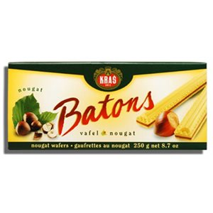 Kras Nougat Stick Wafers 12 / 250g